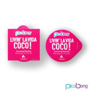 Picobong Livin' la vida COCO! – masážna sviečka (kokos-vanilka)
