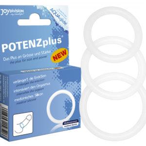 Joydivision Potenz Plus - krúžky na penis (3 dielna sada)