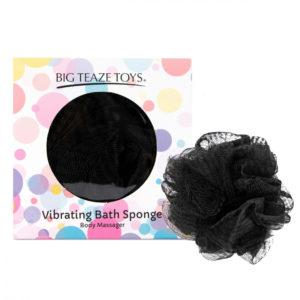 Big Teaze Toys - sprchová houbička s vibrátorem (černá)