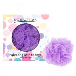 Big Teaze Toys - sprchová houbička s vibrátorem (fialová)
