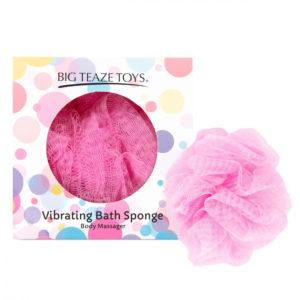 Big Teaze Toys - sprchová houbička s vibrátorem (růžová)