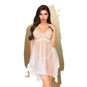 Penthouse Naughty Doll - krajkové šaty s tangy (bílé)