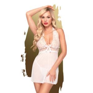 Penthouse Sweet & Spicy - krajkové šaty s tangy (bílé)
