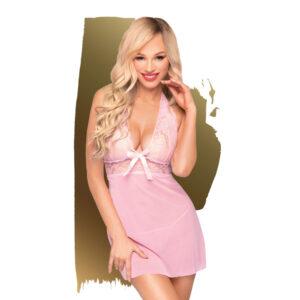 Penthouse Sweet & Spicy - krajkové šaty s tangy (růžové)