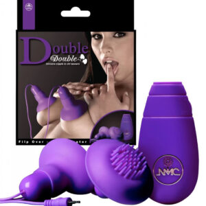 You2Toys Double - vibrátor na bradavky - 1 pár (fialový)
